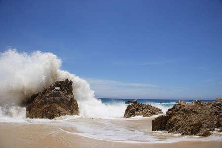 sur: wave at Los Cabos in Baja California Sur, Mexico