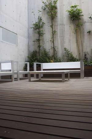forniture: patio detalle en un moderno apartamento en Ciudad de Mexico