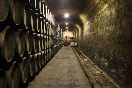 spanish style: wine cellar, rioja, spain Stock Photo