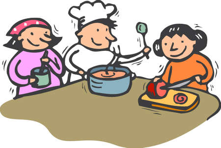 cooking with kids photo