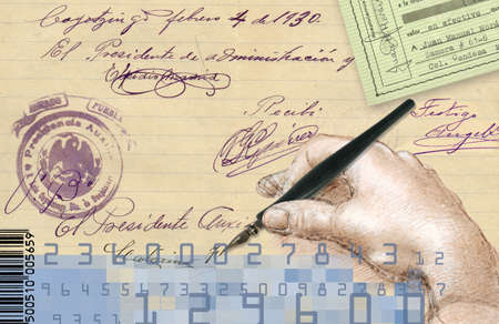 important: signature and important documents Stock Photo