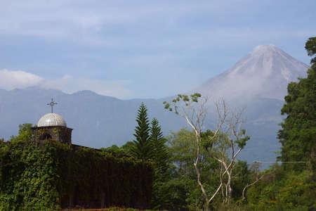 Volcan de Fuego in Colima in Mexico