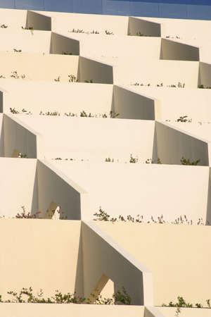 evocative: modern architecture in Cancun, Mexico