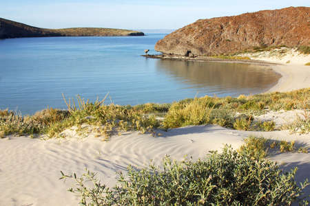 vacationer: Balandra beach, near of La Paz, Baja California Sur, Mexico