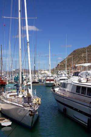 sur: marina in La Paz, Baja California Sur, Mexico Stock Photo