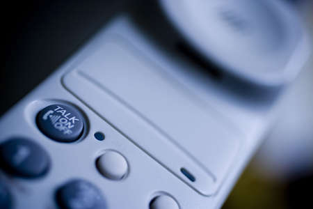 collectible: a modern telephone detail.