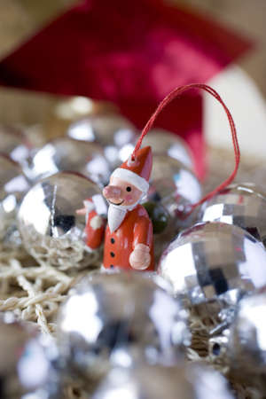 kitsch decoration to christmas even photo