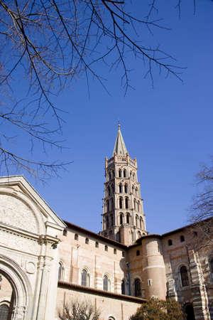 tourisms: Basilique de St-Sernin, Toulouse, Haute-Garonne, Midi-Pyr�n�es, France Stock Photo