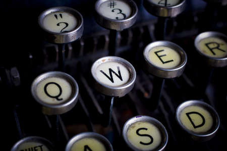 anachronistic: detail of an old typewriter Stock Photo