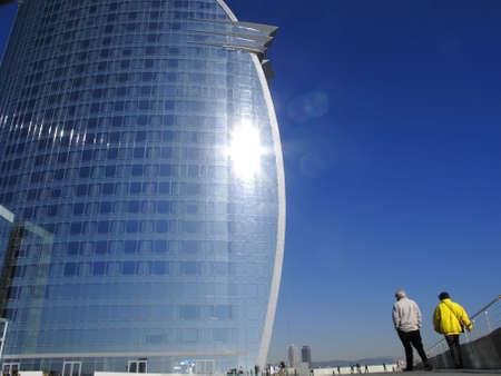 tourisms: Modern zone in Barcelona, Spain
