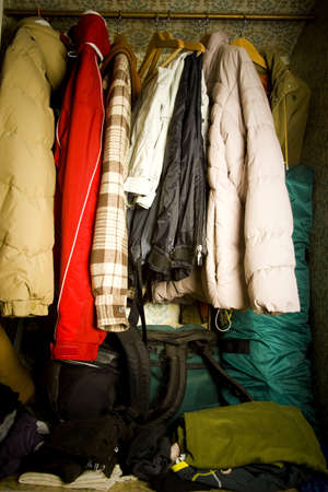 unsanitary: closet detail at home under disaster!