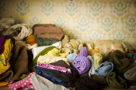uncontrollable: closet detail at home under disaster!
