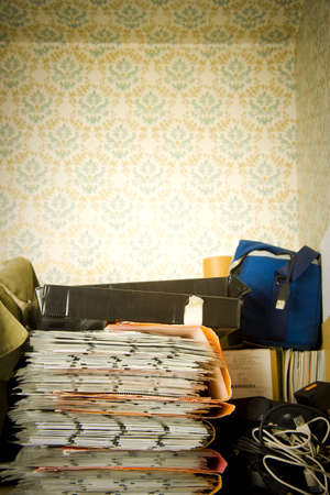 uncontrollable: serie of slides in a closet with old fashion decoration Stock Photo