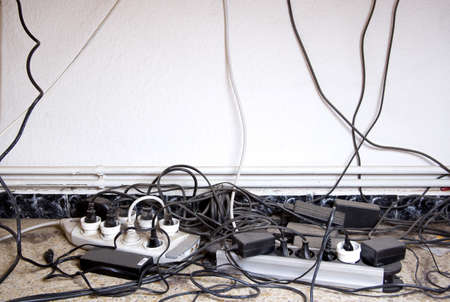 inattention: computer cable clutter at home