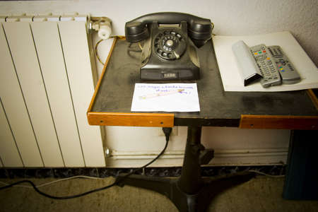 uncontrollable: old telephone in a house