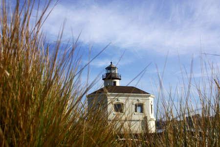 coquille: Coquille River Lighthouse nella regione di Oregon negli Stati Uniti