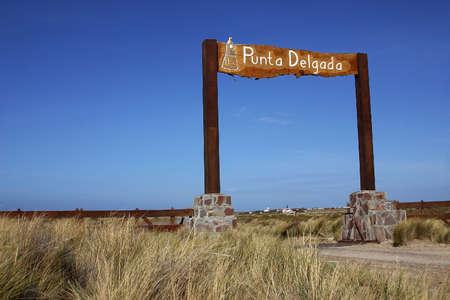 southamerica: Landscape in Peninsula de Valdes, Patagonia, Argentina Stock Photo