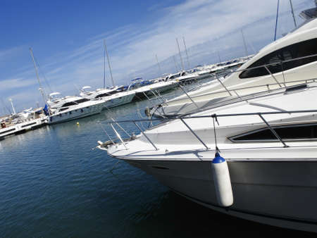 Marina of Puerto Banus, one of the most elegant places on the Costa del Sol Andalucia, Spain