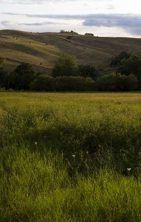 val dorcia: Tuscany landscape in Val dOrcia, around San Casciano dei Bagni, south of Siena, Tuscany, Italy Stock Photo