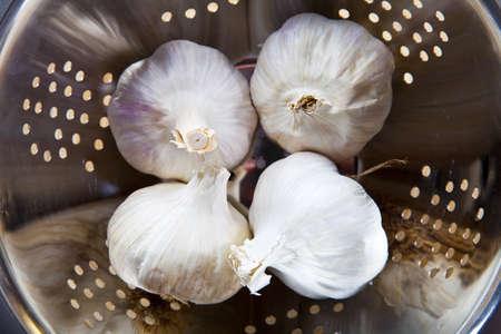 mediterrane k�che: organische Knoblauch. Grundzutat in der mediterranen K�che.