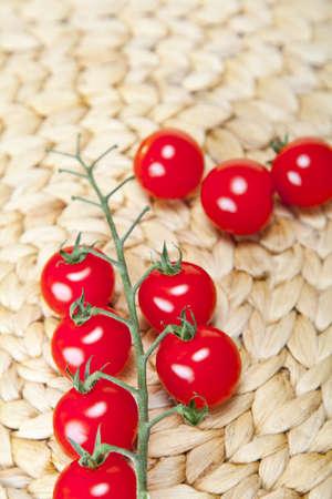 tomato cherry: a detail of tomato cherry