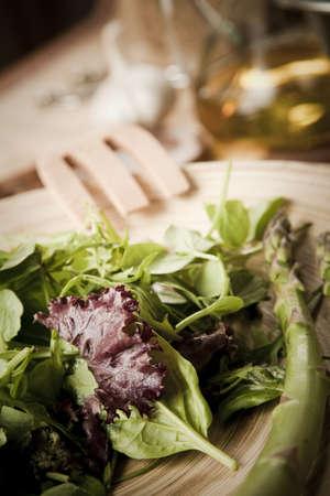 dinnertime: mediterranean salad with organic ingredients