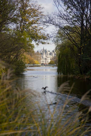 Horse Guards building from St. James Park in London, United Kingdom, Europe photo