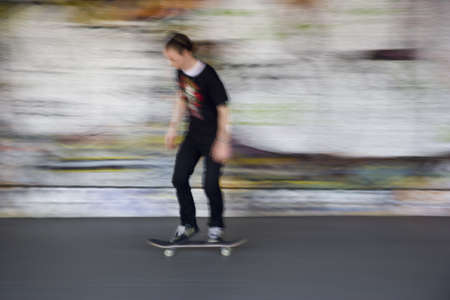 Skate and graffiti in the South Bank, London, Great Britain, UK photo