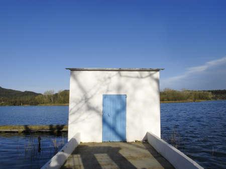 pla: Banyoles lake, Girona province, Catalonia, Spain Stock Photo