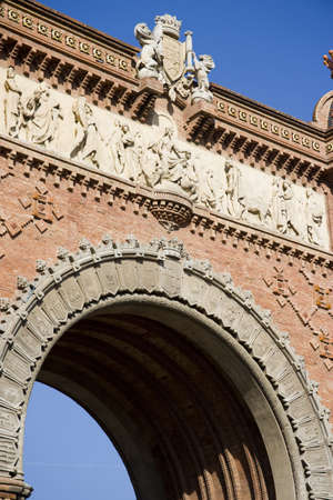 tourisms: Triumphal Arch, Barcelona, Catalonia Spain