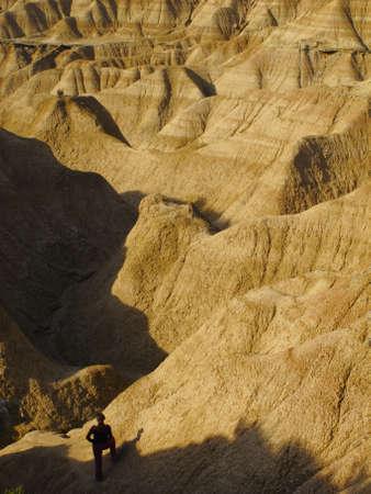 biosphere: Natural landscape in the biosphere reserve Bardenas, Navarra, Spain Stock Photo