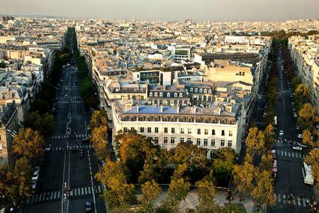 elysees: View of Champs Elysees, Paris, Ile de France, France, Europe