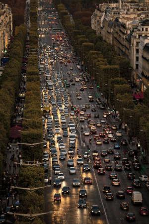 View of Champs Elysees, Paris, Ile de France, France, Europe