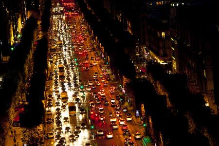 champs: View of Champs Elysees, Paris, Ile de France, France, Europe