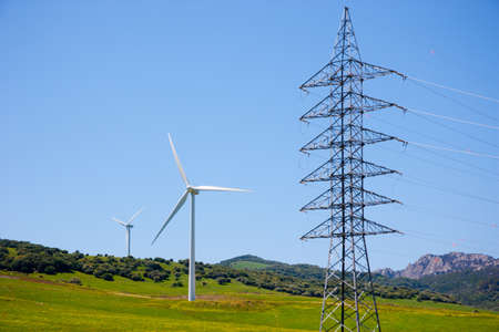 Wind turbines in Andalusia, Spain photo