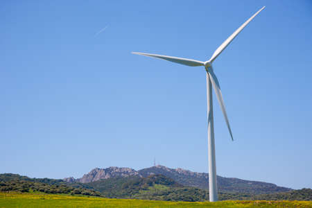 nonpolluting: Wind turbines in Andalusia, Spain