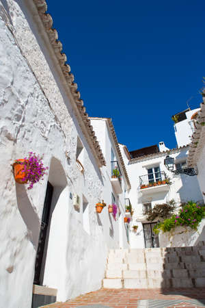 sol: The old town of Mijas in Costa del Sol, Andalusia, Spain