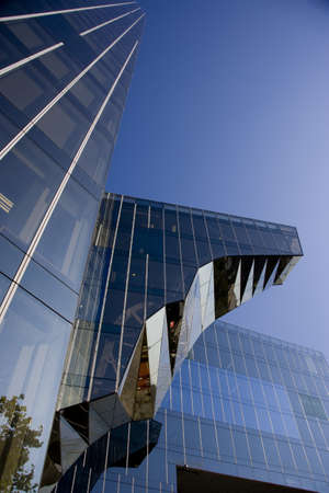 tourisms: Torre Mare Nostrum, head office of Gas Natural (Spanish gas company), by Enric Miralles and Benedetta Tagliabue, Barcelona. Catalonia, Spain