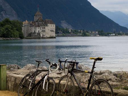montreux: Castle Chillon at Lac Leman, Veytaux, Montreux, Switzerland