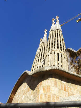 The Sagrada Familia Church by Antoni Gaudi in Barcelona Spain