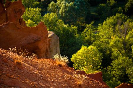 apt: Colorado Provencal, near of Rustrel, Vaucluse, Provence, France