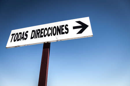 way of thinking: Traffic sign in Spanish