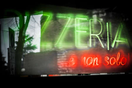 ideogram: Pizzas sign in Verona, Italy