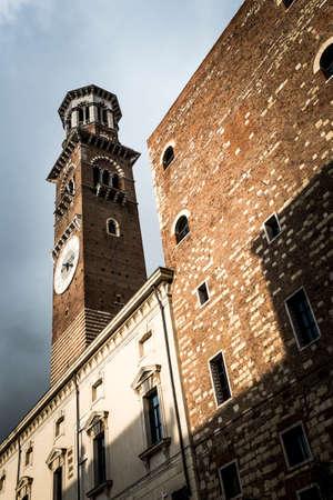 verona: Torre dei Lamberti tower, Verona, Italy