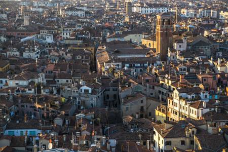 panoramics: Aerial panoramics of the italian city of Venice, Europe Stock Photo