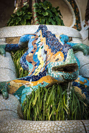 guell: Park Guell by Gaudi in Barcelona, ??Spain