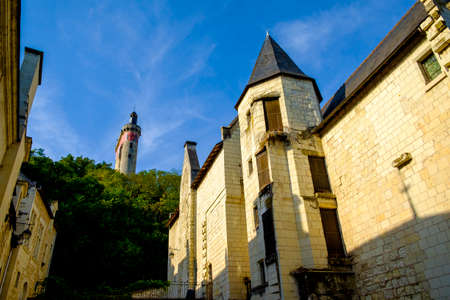 chinon: Chinon village, Indre-et-Loire, Loire Valley, France, Europe