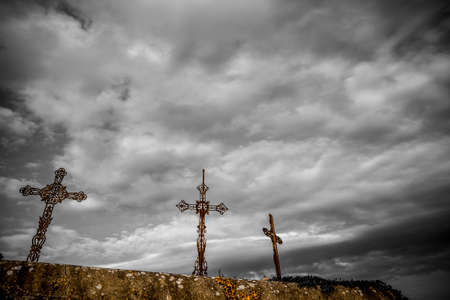 french countryside: Cemetery in the French countryside