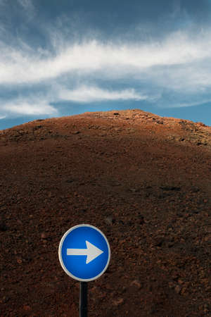 ideogram: Traffic sign in Lanzarote, Canary Islands, Spain Stock Photo