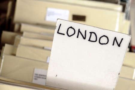 ideogram: Music store detail in London United Kingdom